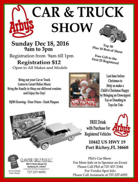 Phil's Christmas Car-Truck Show In Port Richey